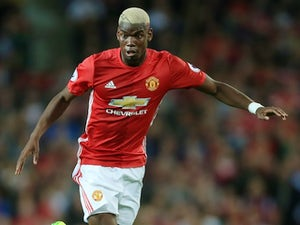 Paul Pogba in action for Manchester United on August 19, 2016