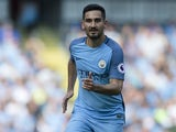 Ilkay Gundogan in action for Manchester City on September 17, 2016