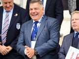 A beaming Sam Allardyce on September 6, 2016