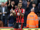 Bournemouth striker Callum Wilson celebrates after scoring his side's fifth goal in their 6-1 victory over Hull City at the Vitality Stadium on October 15, 2016