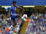 Michy Batshuayi controls the ball during the EFL Cup match between Chelsea and Bristol Rovers at Stamford Bridge on August 23, 2016