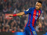 Neymar in action for Barcelona during their La Liga clash with Granada at the Camp Nou on October 29, 2016