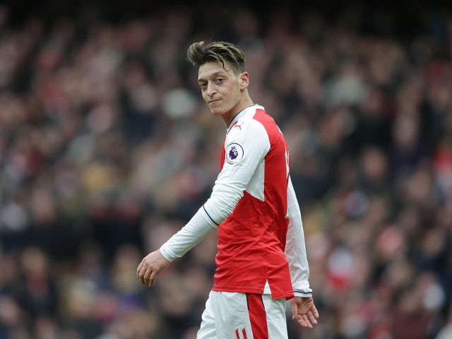 Arsenal midfielder Mesut Ozil in action during the North London derby at the Emirates Stadium on November 6, 2016