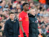 Liverpool youngster Ovie Ejaria comes on during the Premier League clash against Watford at Anfield on November 6, 2016
