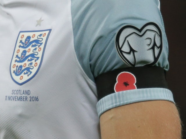Three Lions CAN wear poppies on shirts against Germany