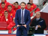Interim England manager Gareth Southgate on the touchline during the international friendly with Spain at Wembley on November 15, 2016
