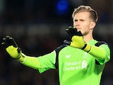 Liverpool goalkeeper Loris Karius in action during his side's EFL Cup clash with Derby County at the iPro Stadium on September 20, 2016