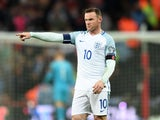 England captain Wayne Rooney in action during his side's World Cup qualifier against Scotland at Wembley on November 11, 2016