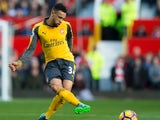 Arsenal midfielder Francis Coquelin in action during the Premier League clash with Manchester United at Old Trafford on November 19, 2016