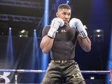 Anthony Joshua in an opening training session on December 6, 2016