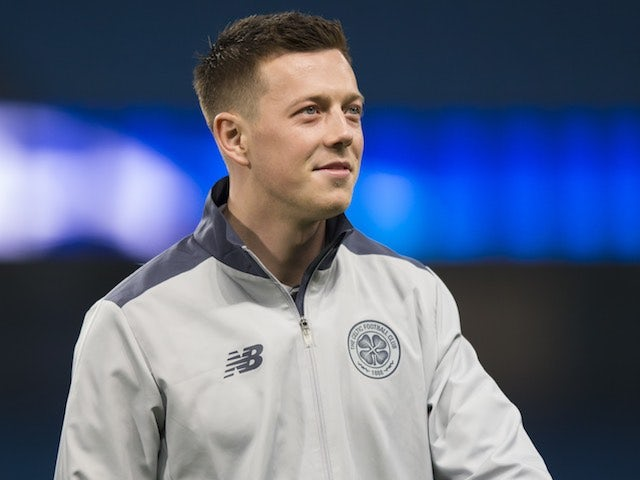 Callum McGregor arrives ahead of the Champions League game between Manchester City and Celtic on December 6, 2016