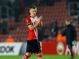 James Ward-Prowse in action during the Europa League game between Southampton and Hapoel Be'er Sheva on December 8, 2016