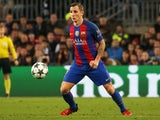 Lucas Digne in action during the Champions League game between Barcelona and Borussia Monchengladbach on December 6, 2016