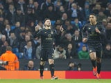 Patrick Roberts celebrates scoring during the Champions League game between Manchester City and Celtic on December 6, 2016