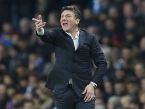 Walter Mazzarri watches on during the Premier League game between Manchester City and Watford on December 14, 2016