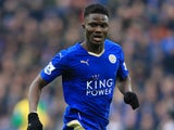 Daniel Amartey in action for Leicester City on February 27, 2016