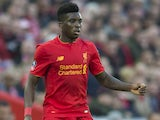 Sheyi Ojo in action during the FA Cup game between Liverpool and Plymouth Argyle on January 8, 2017