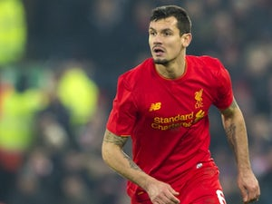 Dejan Lovren in action during the EFL Cup semi-final between Liverpool and Southampton on January 25, 2017
