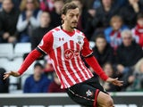 Manolo Gabbiadini in action during the Premier League game between Southampton and West Ham United on February 4, 2017
