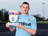 Leeds United striker Chris Wood poses with his Championship player of the award for January 2017 [DO NOTE USE UNTIL FEB 10]