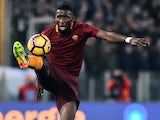 Antonio Rudiger in action during the Coppa Italia game between Lazio and Roma on March 1, 2017