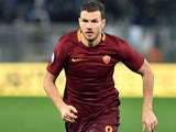 Edin Dzeko in action during the Coppa Italia game between Lazio and Roma on March 1, 2017
