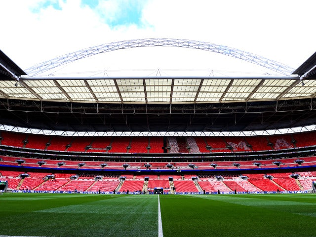 A general shot of Wembley Stadium before the EFL Cup final between Southampton and Manchester United on February 26, 2017