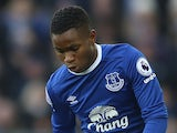 Ademola Lookman in action for Everton against Bournemouth on February 4, 2017