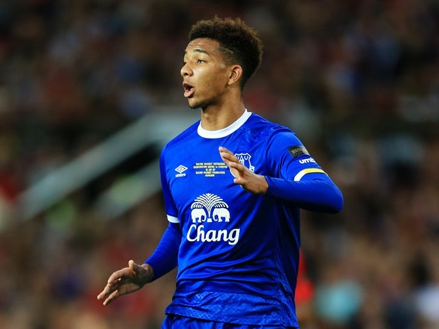 Mason Holgate of Everton in action on August 3, 2016