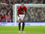 Ashley Young of Manchester United reacts to being injured during the game against Everton on April 4, 2017
