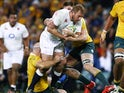 England's James Haskell in action against Australia on June 25, 2016