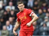 James Milner in action during the Premier League game between West Bromwich Albion and Liverpool on April 16, 2017