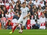 England's Michael Keane in the World Cup qualifier against Lithuania on March 26, 2017