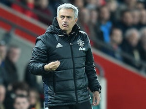Manchester United manager Jose Mourinho during the Premier League match against Southampton on May 17, 2017