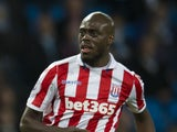 Bruno Martins Indi in action for Stoke City against Manchester City in the Premier League on March 8, 2017