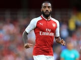Alexandre Lacazette in action for Arsenal on July 30, 2017