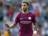 Kyle Walker in action for Manchester City against Brighton & Hove Albion on August 12, 2017