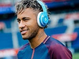 Neymar wearing Beats headphones IN A PSG SHIRT