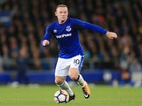 Wayne Rooney in action for Everton against Sevilla on August 6, 2017