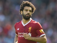 Mohamed Salah in action during the Premier League game between Liverpool and Crystal Palace on August 19, 2017