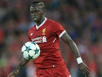 Sadio Mane in action during the Champions League playoff between Liverpool and Hoffenheim on August 23, 2017