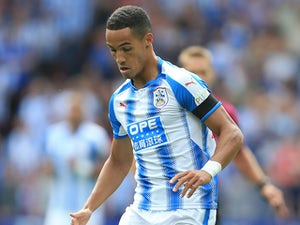 Tom Ince in action during the Premier League game between Huddersfield Town and Newcastle United on August 20, 2017