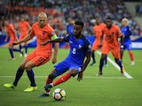 Thomas Lemar in action during the World Cup qualifier between France and the Netherlands on August 31, 2017