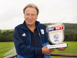 Neil Warnock poses with his Championship manager of the month award for August 2017