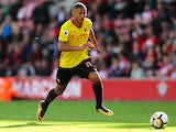 Richarlison in action during the Premier League game between Southampton and Watford on September 9, 2017
