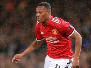 Anthony Martial in action during the Champions League game between Manchester United and Basel on September 12, 2017