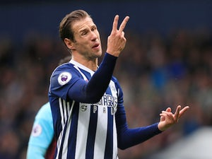 Grzegorz Krychowiak gestures during the Premier League game between West Bromwich Albion and West Ham United on September 16, 2017