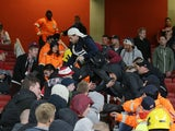 German fans cause chaos at the Emirates ahead of the Europa League game between Arsenal and FC Koln on September 14, 2017