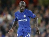 N'Golo Kante in action during the Champions League game between Chelsea and Qarabag on September 12, 2017