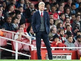 Arsene Wenger watches on during the EFL Cup game between Arsenal and Doncaster Rovers on September 20, 2017